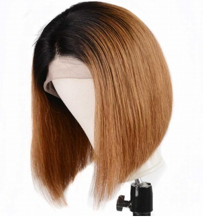 Lisa Front Lace wig bob ombre rotbraun